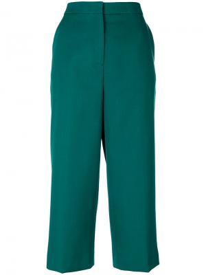 Укороченные брюки-палаццо Rochas. Цвет: зелёный