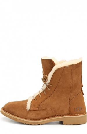Ботинки угги женские на шнурках купить