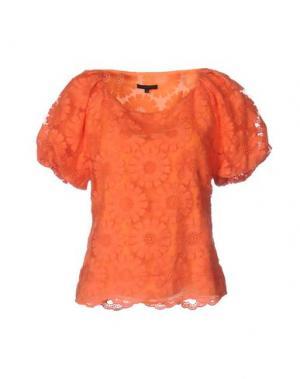Блузка SILK AND SOIE. Цвет: оранжевый