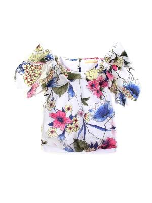 Блузка Stillini. Цвет: белый, синий