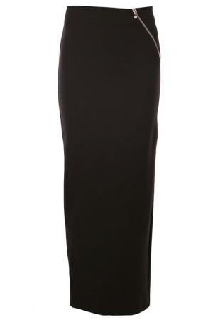 Длинная юбка-карандаш с косой молнией D.Exterior. Цвет: хаки