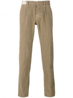 Классические брюки чинос Incotex. Цвет: телесный
