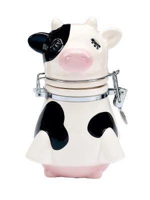 Банка для сыпучих продуктов Udderly Cows BOSTON. Цвет: черный, белый