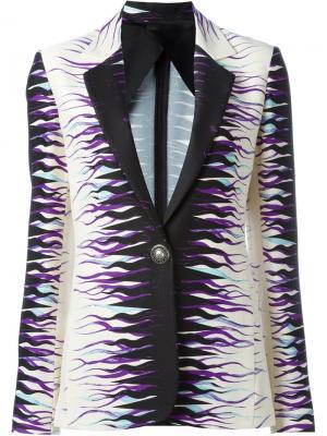 Пиджак с абстрактным принтом Fausto Puglisi. Цвет: чёрный