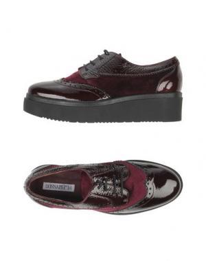 Обувь на шнурках DONNA PIÙ. Цвет: баклажанный