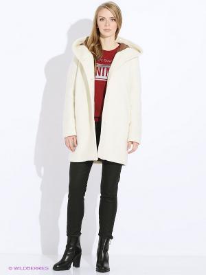 Пальто Sisley. Цвет: молочный
