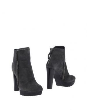Полусапоги и высокие ботинки CARLA G.. Цвет: свинцово-серый