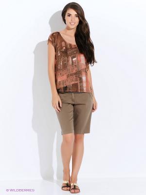 Шорты GARCIA. Цвет: коричневый