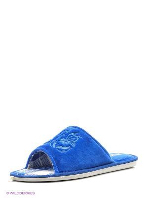 Тапочки renne. Цвет: голубой