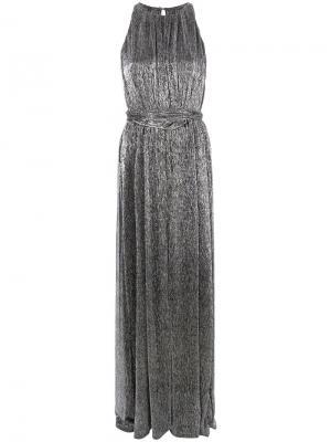 Платье макси металлик Halston Heritage. Цвет: серый