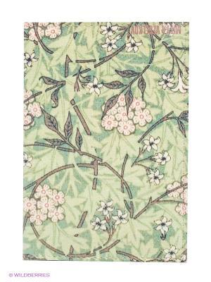 Обложка для автодокументов Розовые цветы Mitya Veselkov. Цвет: зеленый, коричневый