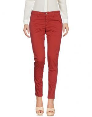 Повседневные брюки SQUAD². Цвет: кирпично-красный