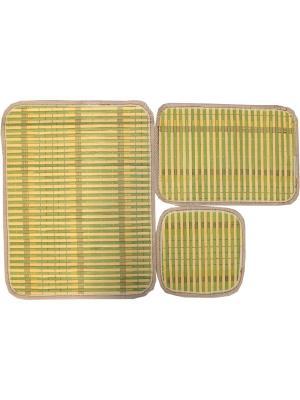 Набор плейсматов из бамбука, 3 предмета Dorothy's Нome. Цвет: салатовый