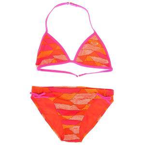 Купальник детский  Tiki Tri Set Shapes Of Sea Roxy. Цвет: оранжевый