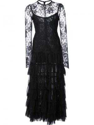 Lace dress Alessandra Rich. Цвет: чёрный