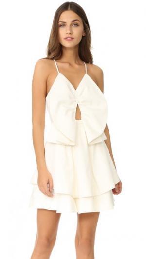 Платье с небольшой мир C/Meo Collective. Цвет: белый