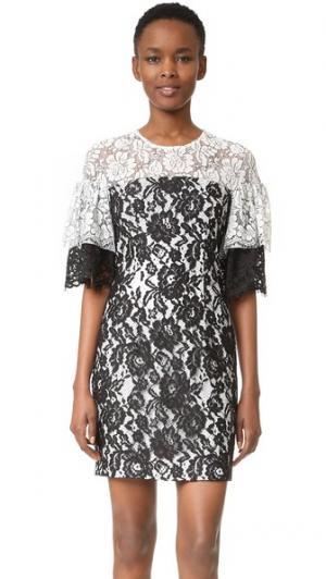 Кружевное платье Farrow Black Halo. Цвет: черный/белый