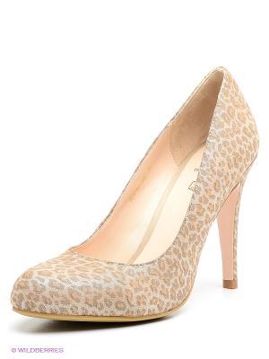 Туфли Moda Donna. Цвет: серо-коричневый