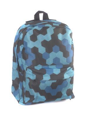 Рюкзак 3D Bags. Цвет: голубой, синий, черный
