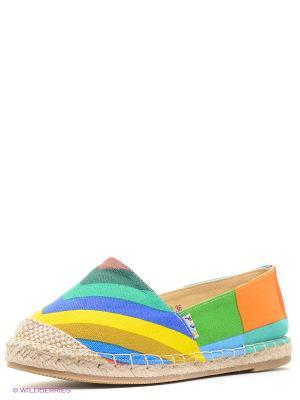 Эспадрильи Dino Ricci. Цвет: голубой, желтый, красный