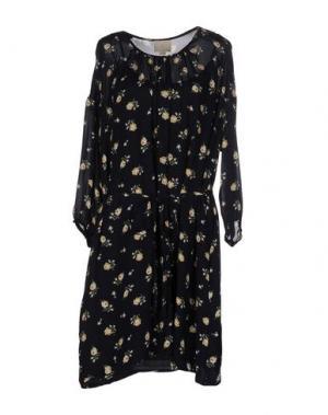 Короткое платье GIRL BY BAND OF OUTSIDERS. Цвет: темно-синий