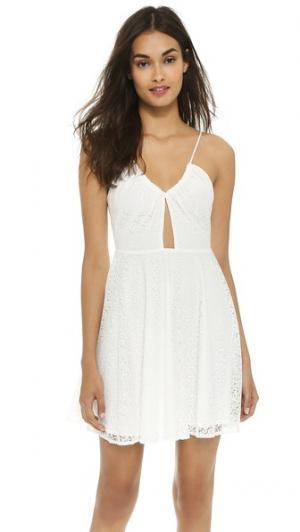 Вышитое платье без рукавов Love Sadie. Цвет: белый