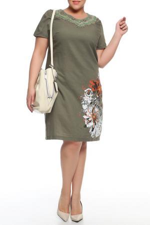 Платье QNEEL Q'NEEL. Цвет: зеленый