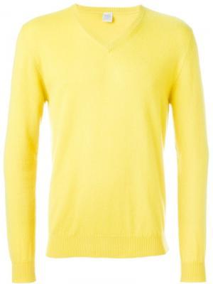 Свитер c V-образным вырезом Eleventy. Цвет: жёлтый и оранжевый