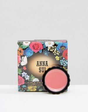 Anna Sui Блеск для губ и лица. Цвет: красный