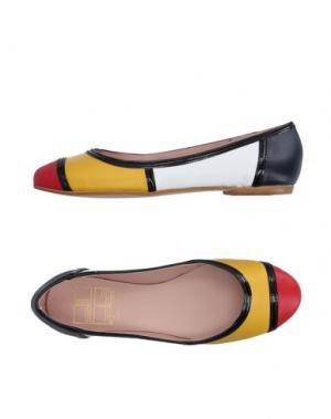 Балетки POPS BY VERSILIA. Цвет: желтый