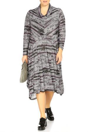 Платье STF. Цвет: серый