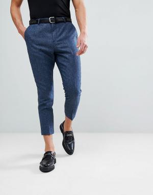 Noose & Monkey Суженные книзу брюки с цепочкой. Цвет: синий