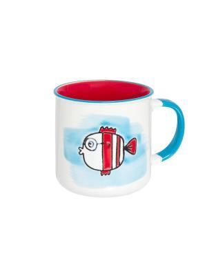 Кружка Рыбка Elan Gallery. Цвет: красный, белый, бирюзовый