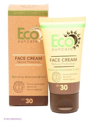 Солнцезащитный крем для лица Natural Sun Protection Face Cream SPF 30, 50мл PULANNA. Цвет: желтый