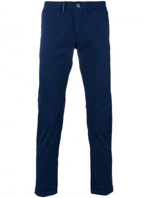 Прямые брюки-чинос Re-Hash. Цвет: синий