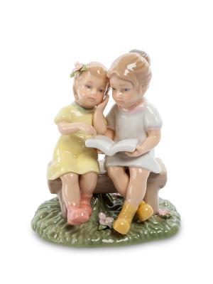 Статуэтка Девочки с книгой (Pavone) Pavone. Цвет: бежевый, белый, светло-желтый