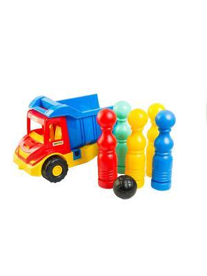Multi Truck грузовик с кеглями ТИГРЕС. Цвет: желтый, синий, зеленый, красный