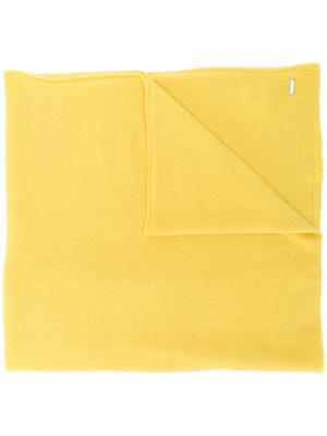 Трикотажный шарф Dondup. Цвет: жёлтый и оранжевый
