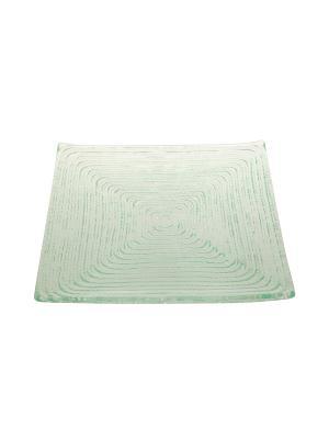 Квадратная тарелка Веревочка Elff Ceramics. Цвет: прозрачный