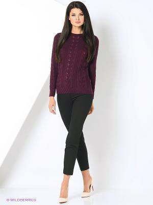 Джемпер Milana Style. Цвет: бордовый