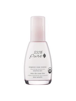 Коллекция Розовая вода: Органический питательный крем для лица. 100% Pure. Цвет: белый