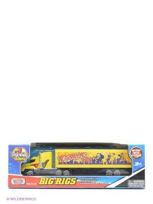 Коллекционная модель грузовика с полуприцепом Motormax. Цвет: желтый
