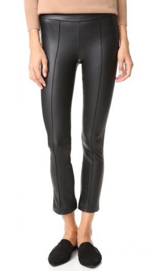 Расклешенные укороченные брюки с защипами David Lerner. Цвет: классический черный