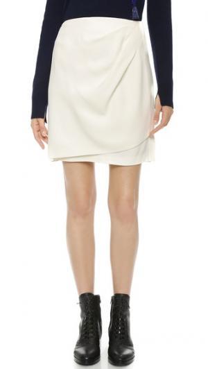 Драпированная юбка с запахом 3.1 Phillip Lim. Цвет: белый