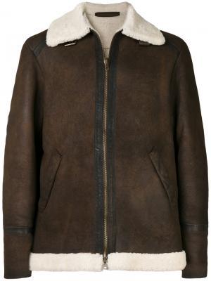 Shearling jacket Salvatore Santoro. Цвет: коричневый