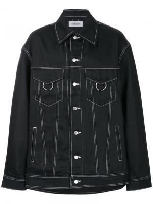 Джинсовая куртка свободного кроя Ambush. Цвет: чёрный