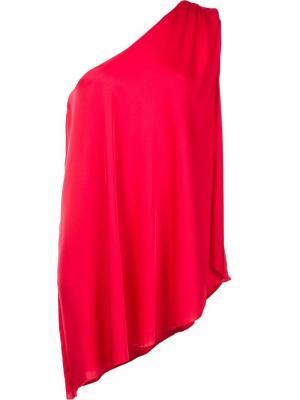 Блузка на одно плечо Trina Turk. Цвет: красный