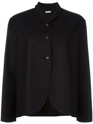 Куртка с закругленным подолом Apuntob. Цвет: чёрный