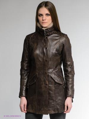 Куртка Mauritius. Цвет: коричневый