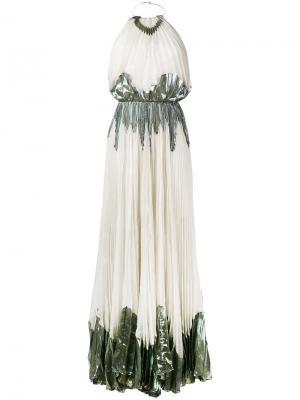 Длинное платье Chavi Maria Lucia Hohan. Цвет: телесный